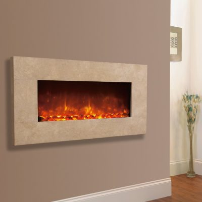 Celsi Electriflame XD Travertine wall mounted electric fire