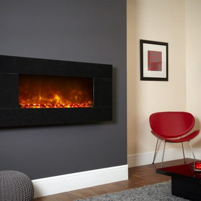 Celsi Electriflame XD 1100 Basalt Granite wall mounted electric fire