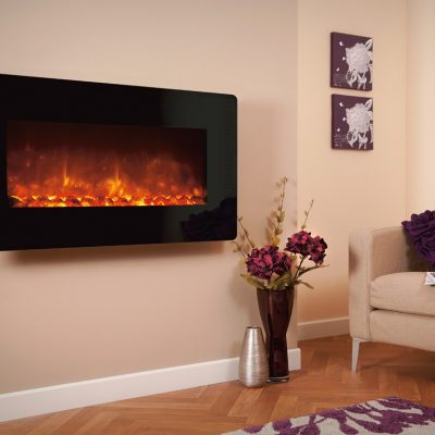 Celsi Electriflame XD Black Glass 1100 Electric Fire